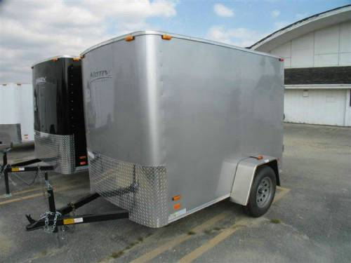 Enclosed 5 X 8 Cargo Trailer With Swing Doors
