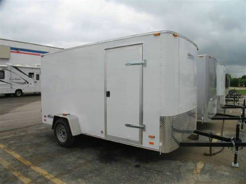 Enclosed Cargo Trailer 6 X 12 Swing Doors Advantage