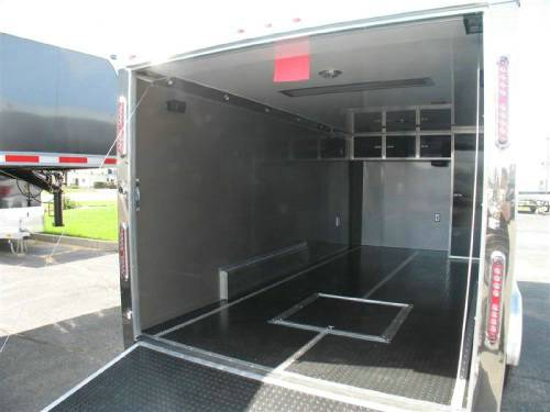Aluminum Enclosed Motorcycle Trailer With Finished