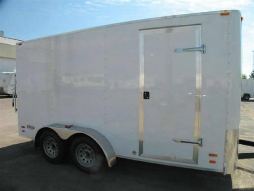 Enclosed 7 X14 Cargo Trailer With Ramp Door Advantage