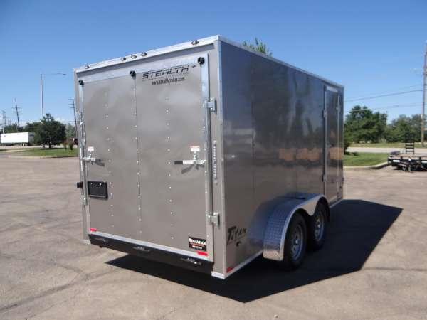 7 X 14 Enclosed Cargo Trailer With Rear Ramp Door